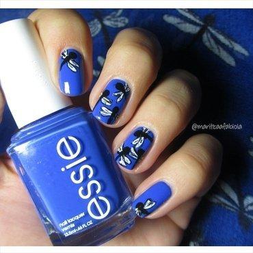 Dragonfly nails! nail art by Mary