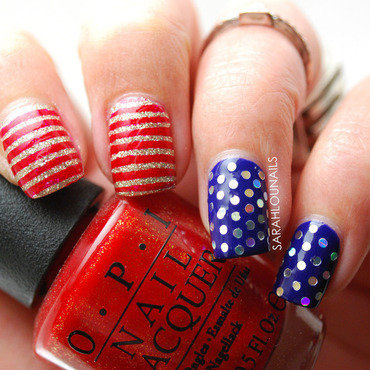 4th of July Nails! nail art by Sarah S