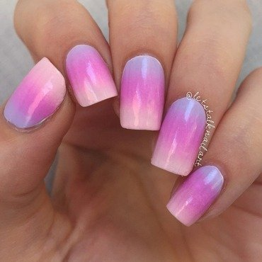 Barbie Ombre nail art by Lottie