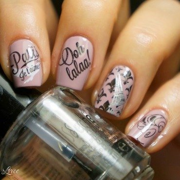 Paris, je t'aime nail art by PaznokcioweLovee