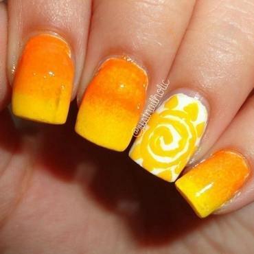 Sun nail art by Melany Antelo
