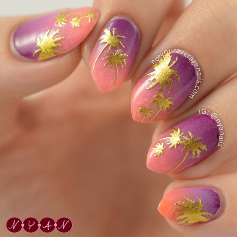 Chase the Sunset nail art by Becca (nyanails)