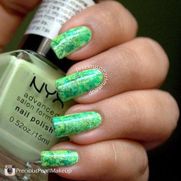 Green Summer nail art by Pearl P.