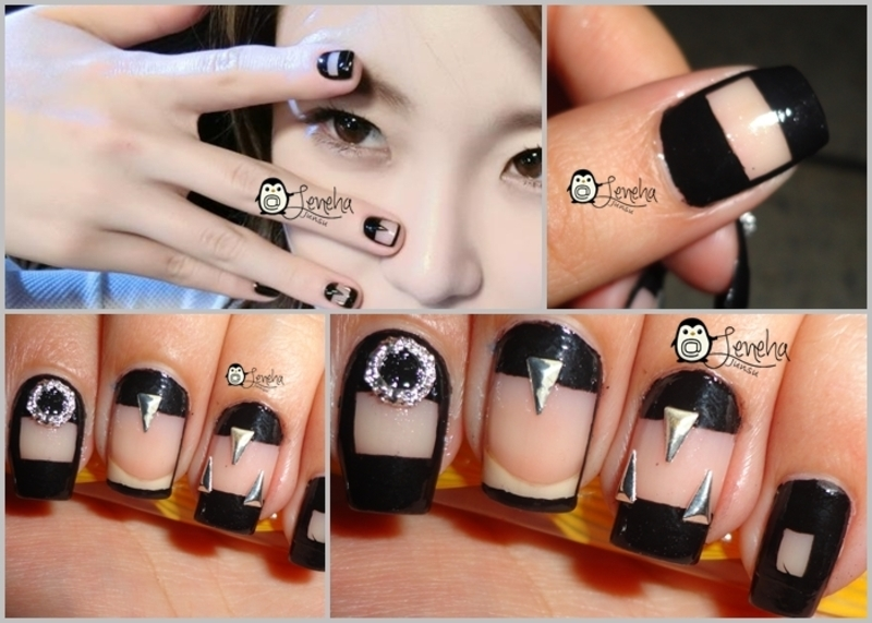 Cut Out Nail Art nail art by Leneha Junsu