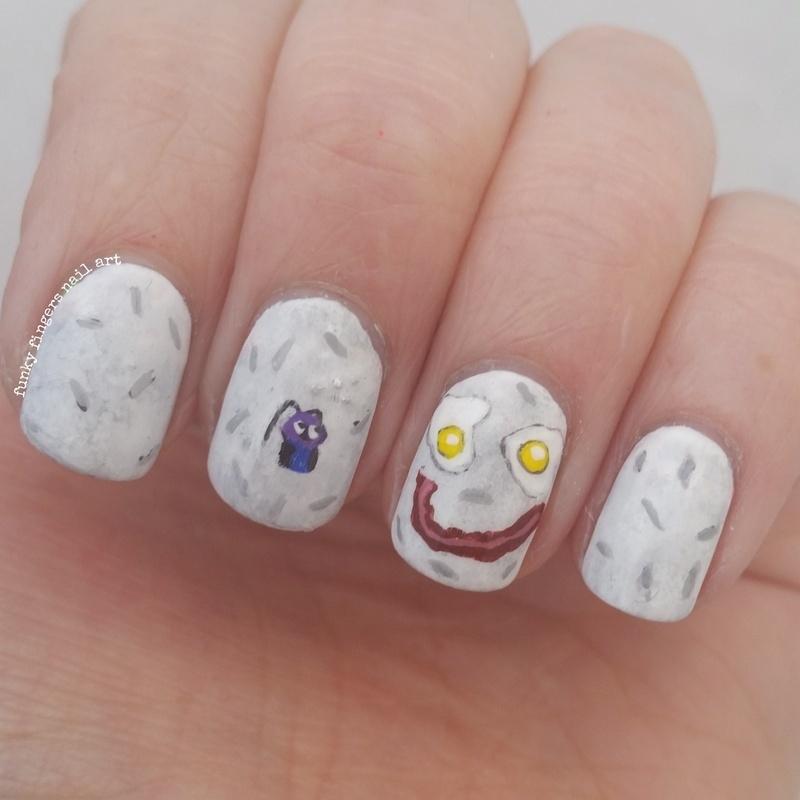 mulan nails nail art by Funky fingers nail art