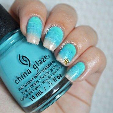 Beach nails nail art by Julia