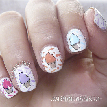 MoYou Ice-Cream Contest nail art by Jessi Brownie (Jessi)