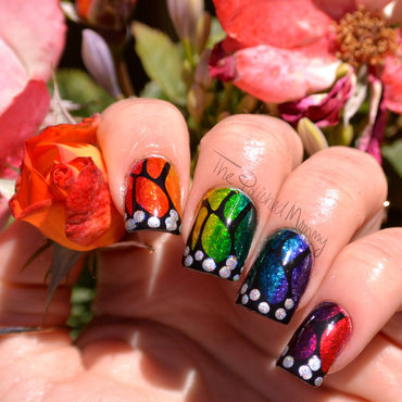 Wings of Love nail art by The Polished Mommy