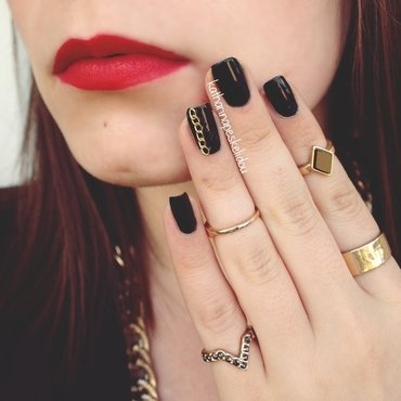 Chained Up Licorice nail art by katharinapeskelidou