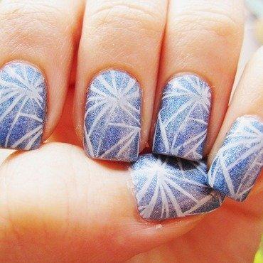 Snow Queens glass nail art by Weronika D