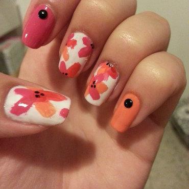 flowers nail art by Maya Harran