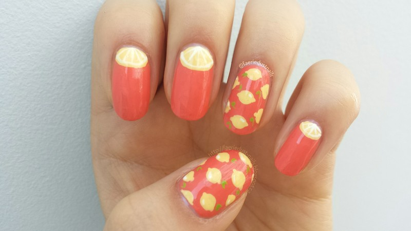 When Life Gives You Lemons nail art by Shirley X.