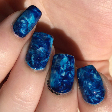 Blues nail art by Michelle