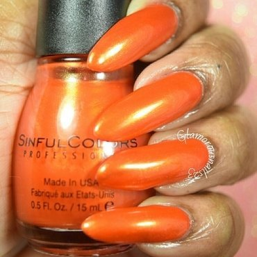 Sinful Colors Courtney Orange Swatch by glamorousnails23