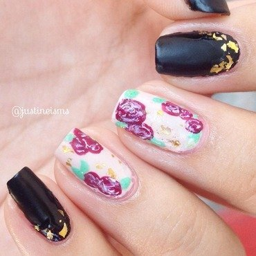 Lavander Roses nail art by ℐustine