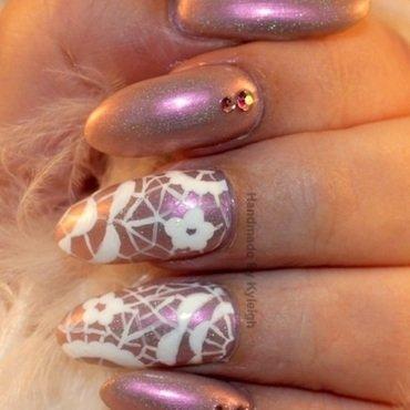 Doilies nail art by  Kyleigh  'Handmade By Kyleigh'