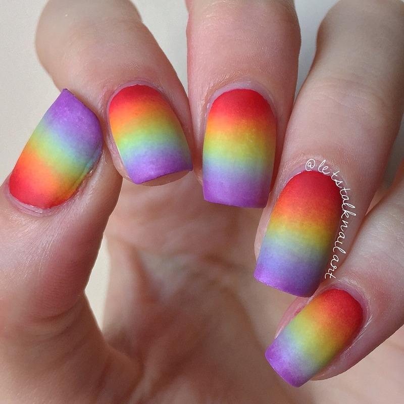 Rainbow Gradient Nail Art By Lottie Nailpolis Museum Of