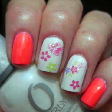 Summer Bright nail art by Donner