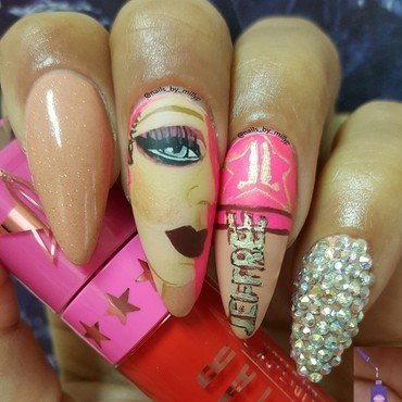 JEFFREE STAR nail art by Milly Palma