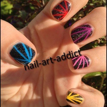 Nail Art : Stripping Tape Pop nail art by SowNails