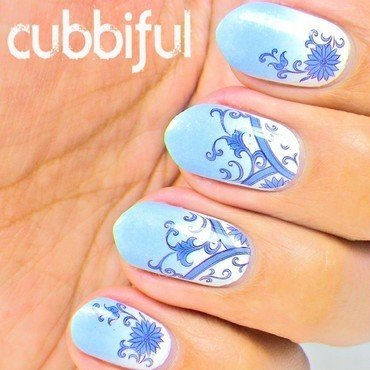 Blue gradient nails thumb370f