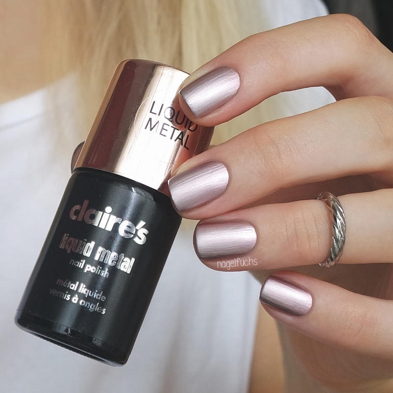 claire s liquid metal rose gold swatch by nagelfuchs