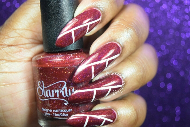Red & White....Somewhat Canada Day  nail art by glamorousnails23