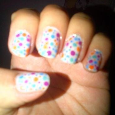 Colors pastel nail art by Andreea
