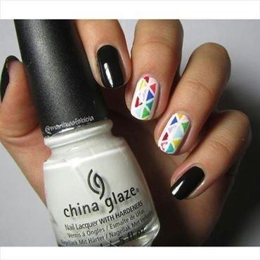 Triangles nail art by Mary