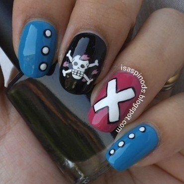 Nail Art: Chopper de One Piece nail art by Isabel