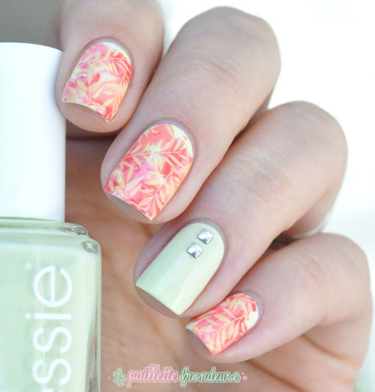 tropical nails nail art by nathalie lapaillettefrondeuse