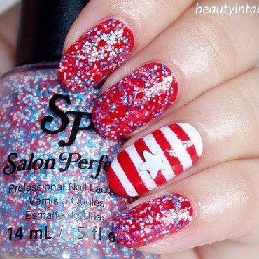 4th July Nails nail art by Beauty Intact