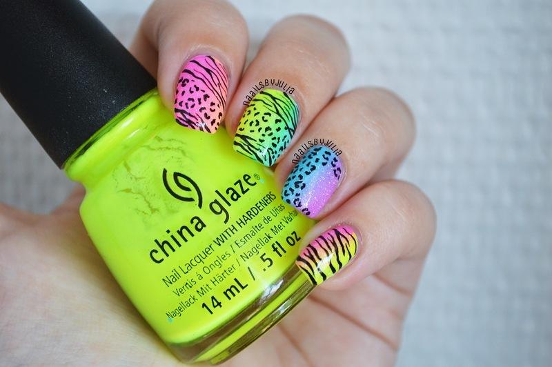 Animal print nail art by Julia
