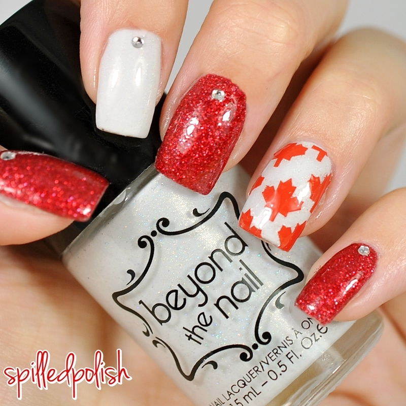 Canada Day 2015 nail art by Maddy S