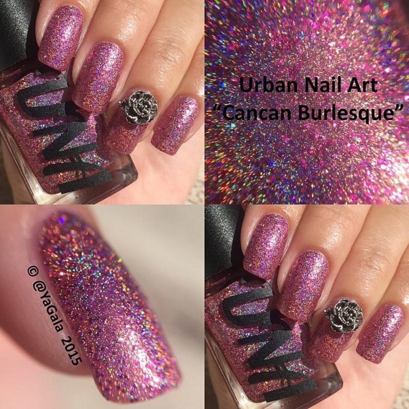 Urban Nail Art Una Cancan Burlesque Swatch By Lou Nailpolis
