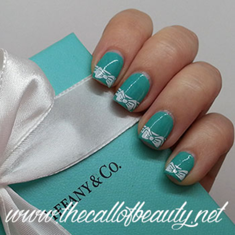 Perfect Tiffany nail art by The Call of Beauty