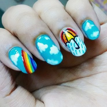 Monsoon Nailart nail art by Sohini  Sengupta