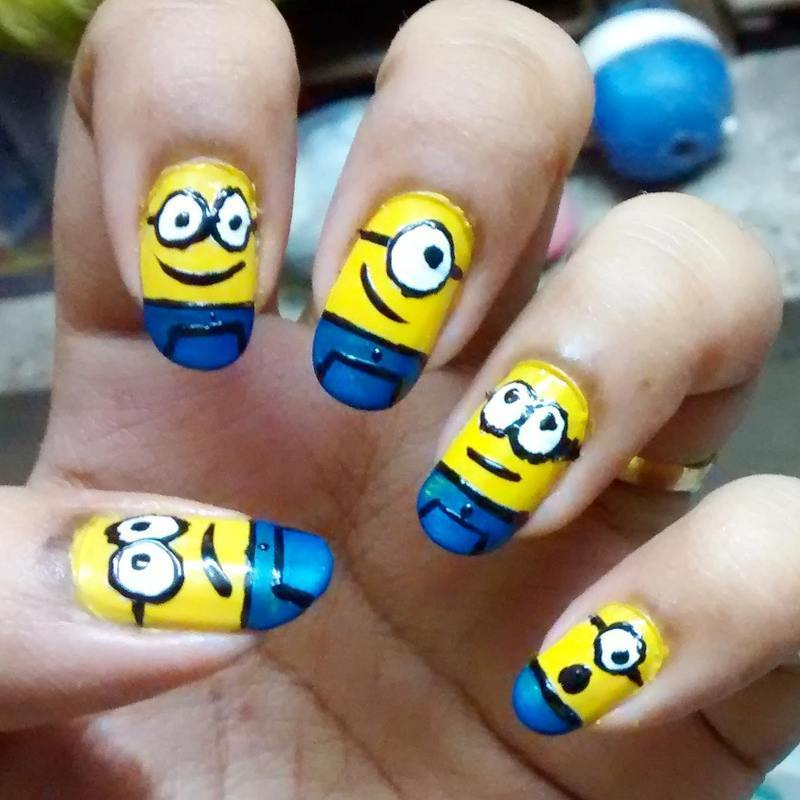 Minion nailart nail art by Sohini  Sengupta