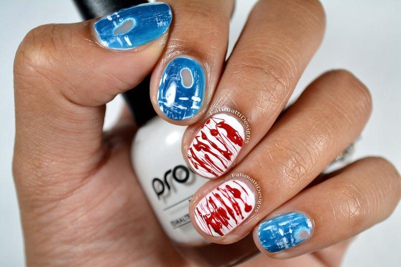 American Girl nail art by Fatimah