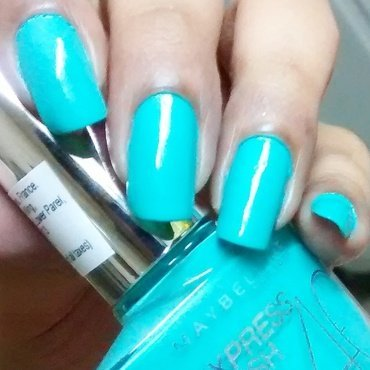 Maybelline Express Finish Turquoise Lagoon Swatch by Sohini  Sengupta