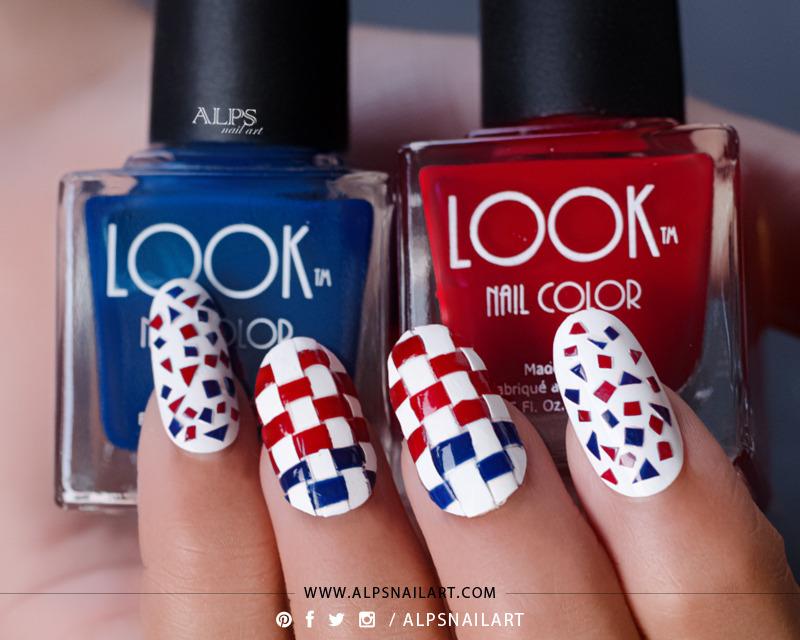 4th of July Nail Art Tutorial @alpsnailart nail art by Alpsnailart
