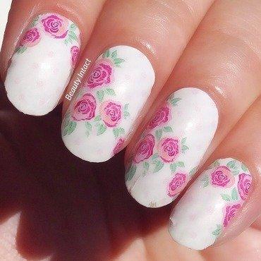 Rose nail applique  nail art by Beauty Intact