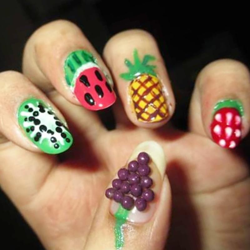 Fresh Fruits nail art by Sohini  Sengupta