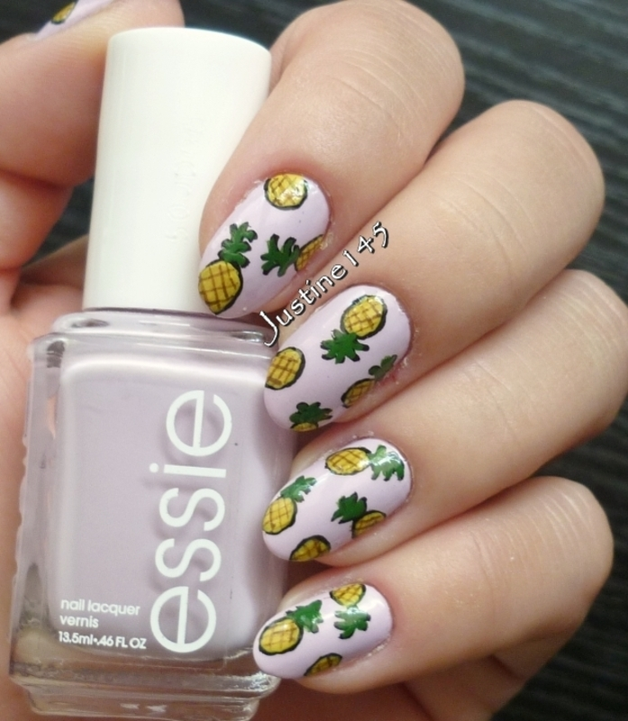 pineapples nail art by Justine145