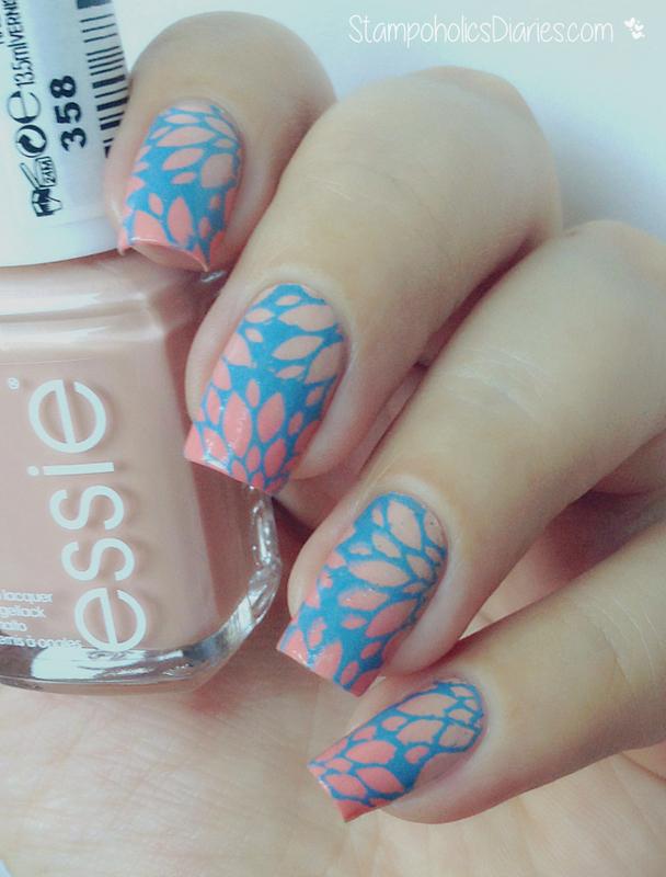 pastel floral nails nail art by Natasha