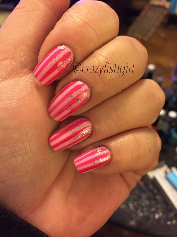 Victoria secret nails nail art by crazyfishgirl - Nailpolis: Museum ...