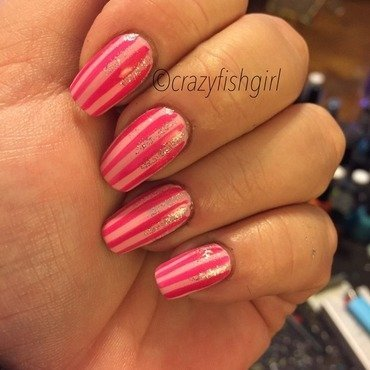 Victoria secret nails nail art by crazyfishgirl