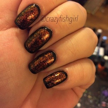 Sally Hansen Black Heart, Shany striping poliish #04, and Nfu Oh #58 Swatch by crazyfishgirl