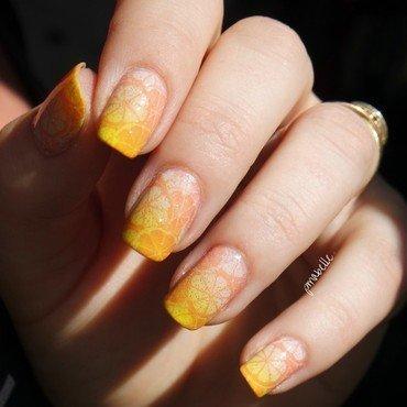 orange juice nail art by Pmabelle