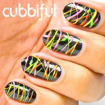 Laser Ligths Nail Art nail art by Cubbiful